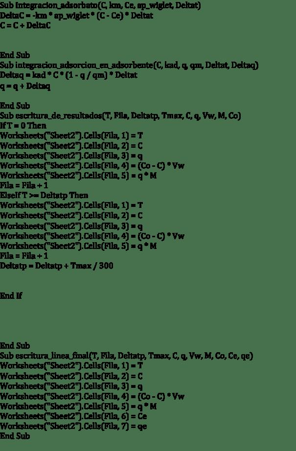 Figura 4. Programa de simulación, continuación