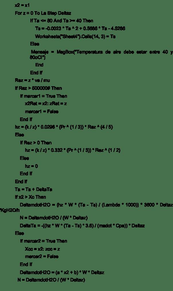 Figura 6. Código del programa de simulación, continuación