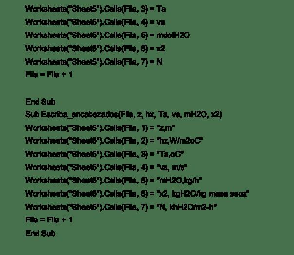 Figura 8. Código del programa de simulación, continuación
